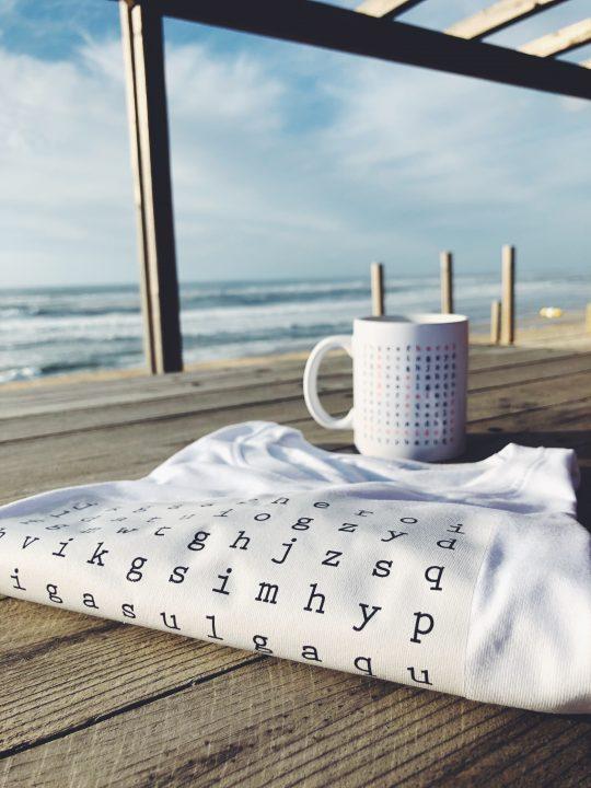 Caneca e T shirt Sopa de letras